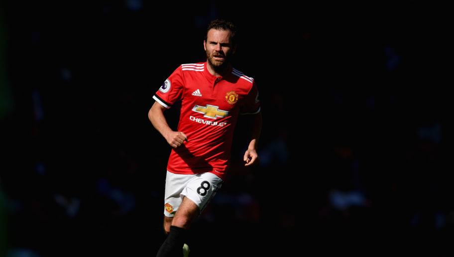 MANCHESTER, ENGLAND - MAY 13:  Juan Mata of Manchester United in action during the Premier League match between Manchester United and Watford at Old Trafford on May 13, 2018 in Manchester, England.  (Photo by Ross Kinnaird/Getty Images)