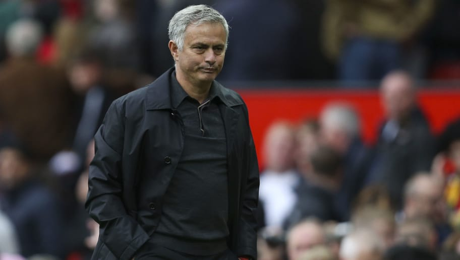 MANCHESTER, ENGLAND - SEPTEMBER 22: Jose Mourinho the head coach / manager of Manchester United  during the Premier League match between Manchester United and Wolverhampton Wanderers at Old Trafford on September 22, 2018 in Manchester, United Kingdom. (Photo by James Baylis - AMA/Getty Images)