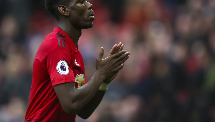 MANCHESTER, ENGLAND - SEPTEMBER 22: Paul Pogba of Manchester United during the Premier League match between Manchester United and Wolverhampton Wanderers at Old Trafford on September 22, 2018 in Manchester, United Kingdom. (Photo by James Baylis - AMA/Getty Images)