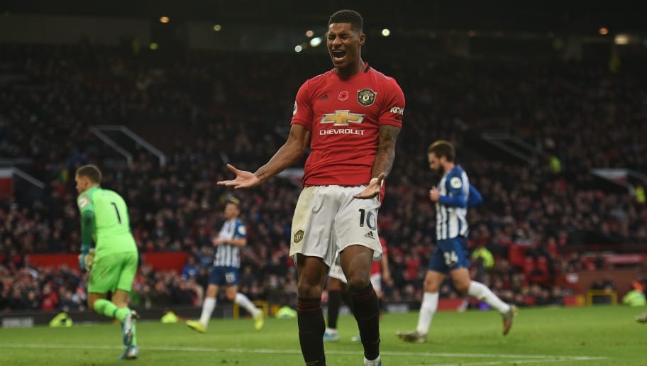 Twitter Reacts as Marcus Rashford Comes up With 'Miss of the Season' Contender Against Brighton