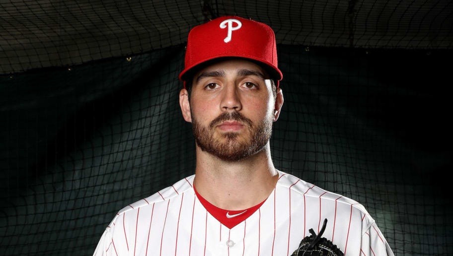 CLEARWATER, FL - FEBRUARY 20:  Mark Appel #66 of the Philadelphia Phillies poses for a portrait during the Philadelphia Phillies photo day on February 20, 2017 at Spectrum Field in Clearwater,Florida.  (Photo by Elsa/Getty Images)