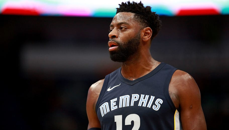 NEW ORLEANS, LA - JANUARY 20:  Tyreke Evans #12 of the Memphis Grizzlies stands on the court during the first half of a NBA game against the New Orleans Pelicans at the Smoothie King Center on January 20, 2018 in New Orleans, Louisiana. NOTE TO USER: User expressly acknowledges and agrees that, by downloading and or using this photograph, User is consenting to the terms and conditions of the Getty Images License Agreement.  (Photo by Sean Gardner/Getty Images)