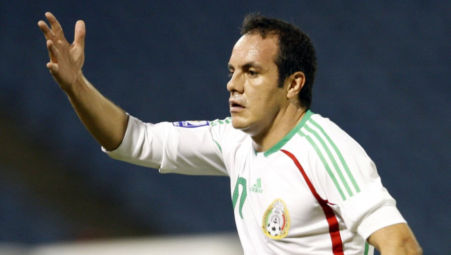 Mexico's Cuauhtemoc Blanco  during play