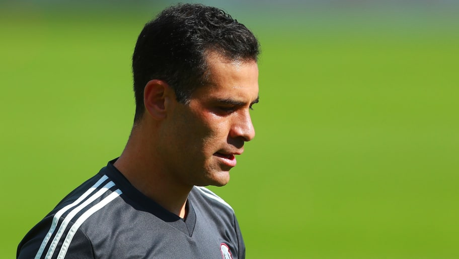 MEXICO CITY, MEXICO - MAY 17: Rafael Marquez of Mexico looks on during the Mexico National Team training session at CAR on May 17, 2018 in Mexico City, Mexico. (Photo by Hector Vivas/Getty Images)