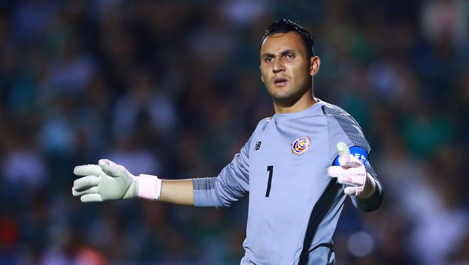 MONTERREY, MEXICO - OCTOBER 11: Keylor Navas of Costa Rica looks on during the international friendly match between Mexico and Costa Rica at Universitario Stadium on October 11, 2018 in Monterrey, Mexico. (Photo by Hector Vivas/Getty Images)