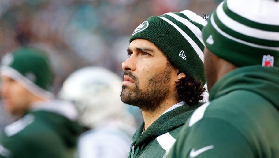 EAST RUTHERFORD, NJ - DECEMBER 01:  (NEW YORK DAILIES OUT)    Mark Sanchez #6 of the New York Jets  looks on against the Miami Dolphins on December 1, 2013 at MetLife Stadium in East Rutherford, New Jersey. The Dolphins defeated the Jets 23-3.  (Photo by Jim McIsaac/Getty Images)