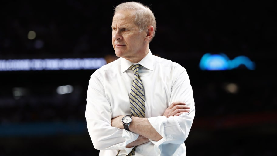 SAN ANTONIO, TX - APRIL 02:  Head coach John Beilein of the Michigan Wolverines reacts against the Villanova Wildcats in the second half during the 2018 NCAA Men's Final Four National Championship game at the Alamodome on April 2, 2018 in San Antonio, Texas.  (Photo by Ronald Martinez/Getty Images)