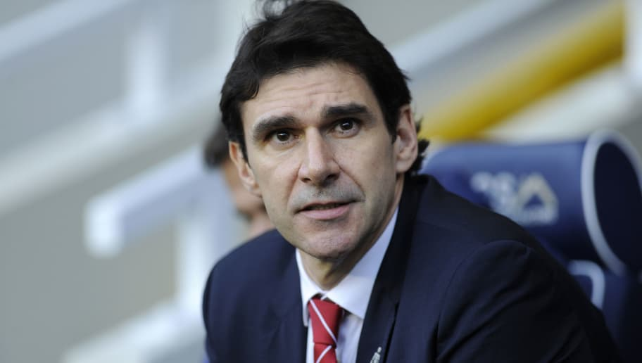 LONDON, ENGLAND - DECEMBER 29: Aitor Karanka, Manager of Nottingham Forest looks on prior to the Sky Bet Championship match between Millwall and Nottingham Forest at The Den on December 29, 2018 in London, England. (Photo by Alex Burstow/Getty Images)