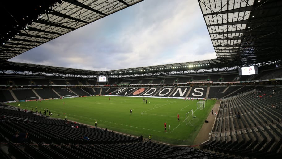 MILTON KEYNES, ENGLAND - AUGUST 14: A general view of Stadium MK prior to the Carabao Cup First Round match between Milton Keynes Dons and Charlton Athletic at Stadium MK on August 14, 2018 in Milton Keynes, England. (Photo by Marc Atkins/Getty Images)