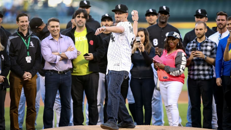 CHICAGO, IL - JUNE 01:  Danny Farquhar of the Chicago White Sox throws out a ceremonial first pitch before the game between the Milwaukee Brewers and Chicago White Sox at Guaranteed Rate Field on June 1, 2018 in Chicago, Illinois.  (Photo by Dylan Buell/Getty Images)