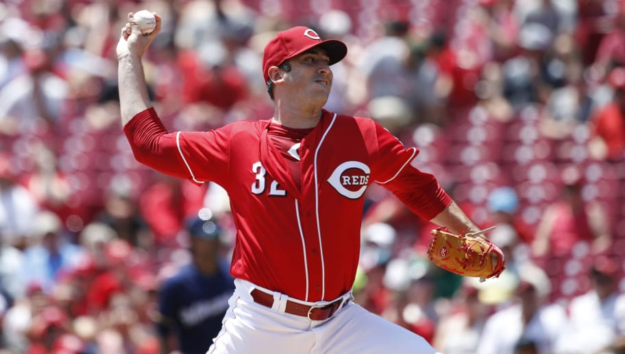 CINCINNATI, OH - JULY 01: Matt Harvey #32 of the Cincinnati Reds pitches in the first inning against the Milwaukee Brewers at Great American Ball Park on July 1, 2018 in Cincinnati, Ohio. (Photo by Joe Robbins/Getty Images)