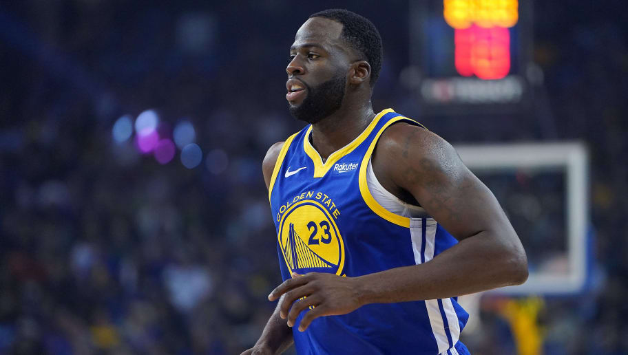 OAKLAND, CA - NOVEMBER 02:  Draymond Green #23 of the Golden State Warriors looks on against the Minnesota Timberwolves during an NBA basketball game at ORACLE Arena on November 2, 2018 in Oakland, California. NOTE TO USER: User expressly acknowledges and agrees that, by downloading and or using this photograph, User is consenting to the terms and conditions of the Getty Images License Agreement.  (Photo by Thearon W. Henderson/Getty Images)