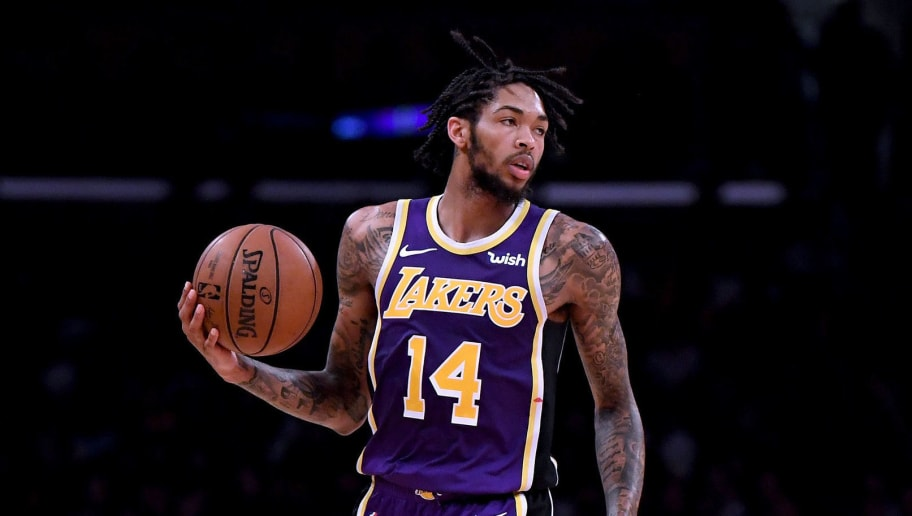 LOS ANGELES, CA - NOVEMBER 07:  Brandon Ingram #14 of the Los Angeles Lakers dribbles the ball upcourt during the game against the Minnesota Timberwolves at Staples Center on November 7, 2018 in Los Angeles, California.  NOTE TO USER: User expressly acknowledges and agrees that, by downloading and or using this photograph, User is consenting to the terms and conditions of the Getty Images License Agreement.  (Photo by Harry How/Getty Images)