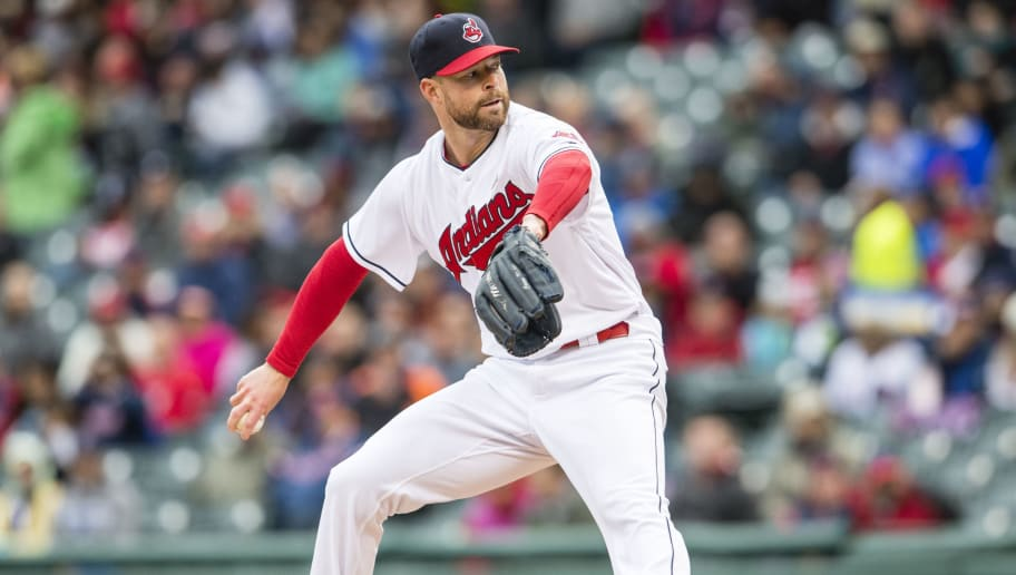 CLEVELAND, OH -  MAY 14: Starting pitcher Corey Kluber #28 of the Cleveland Indians pitches during the first inning against the Minnesota Twins at Progressive Field on May 14, 2016 in Cleveland, Ohio.  (Photo by Jason Miller/Getty Images)