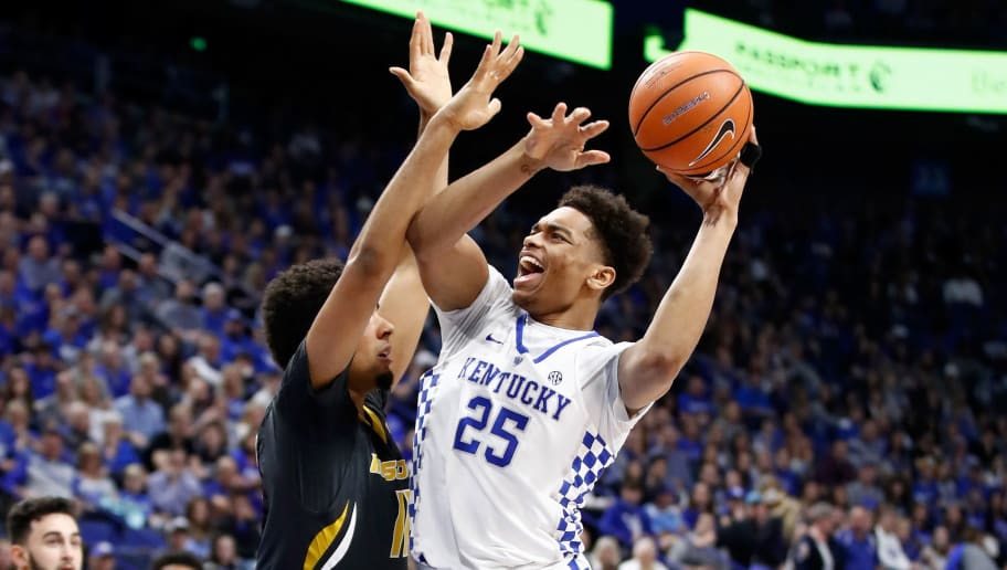 LEXINGTON, KY - FEBRUARY 24:  PJ Washington #25 of the Kentucky Wildcats shoots the ball against the Missouri Tigers at Rupp Arena on February 24, 2018 in Lexington, Kentucky.  (Photo by Andy Lyons/Getty Images)
