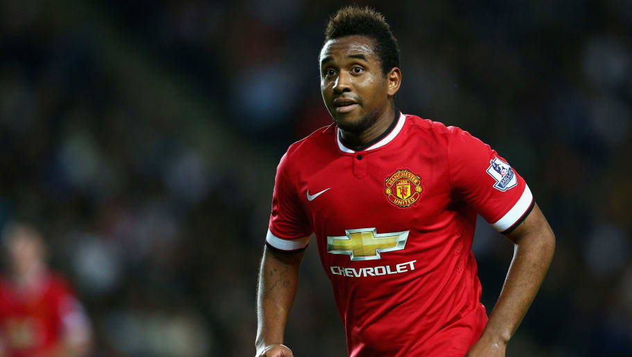 MILTON KEYNES, ENGLAND - AUGUST 26:  Anderson of Manchester United in action during the Capital One Cup second round match between MK Dons and Manchester United at Stadium mk on August 26, 2014 in Milton Keynes, England.  (Photo by Clive Mason/Getty Images)