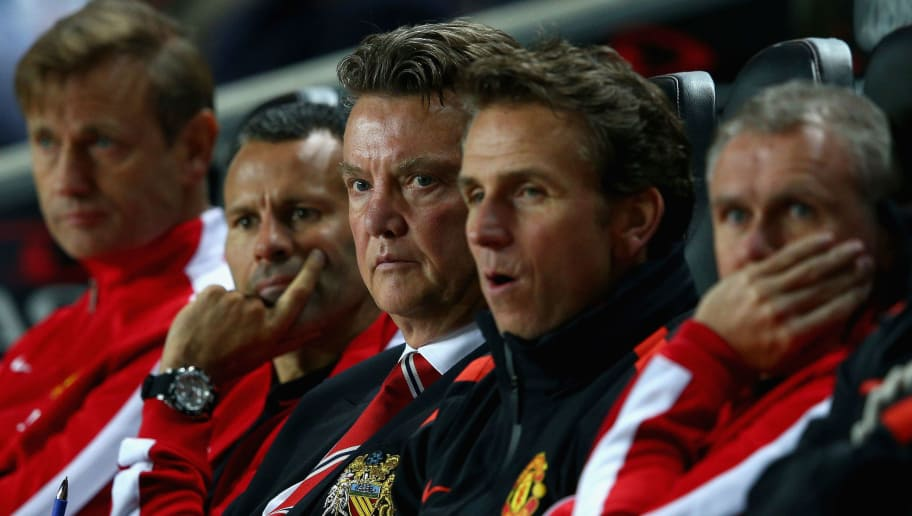 MILTON KEYNES, ENGLAND - AUGUST 26:  Manager Louis van Gaal of Manchester United looks on during the Capital One Cup second round match between MK Dons and Manchester United at Stadium mk on August 26, 2014 in Milton Keynes, England.  (Photo by Clive Mason/Getty Images)