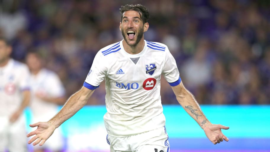 ORLANDO, FL - JUNE 17  Ignacio Piatti #10 of Montreal Impact celebrate his second goal during a MLS soccer match between the Montreal Impact and the Orlando City SC at Orlando City Stadium on June 17, 2017 in Orlando, Florida. (Photo by Alex Menendez/Getty Images)