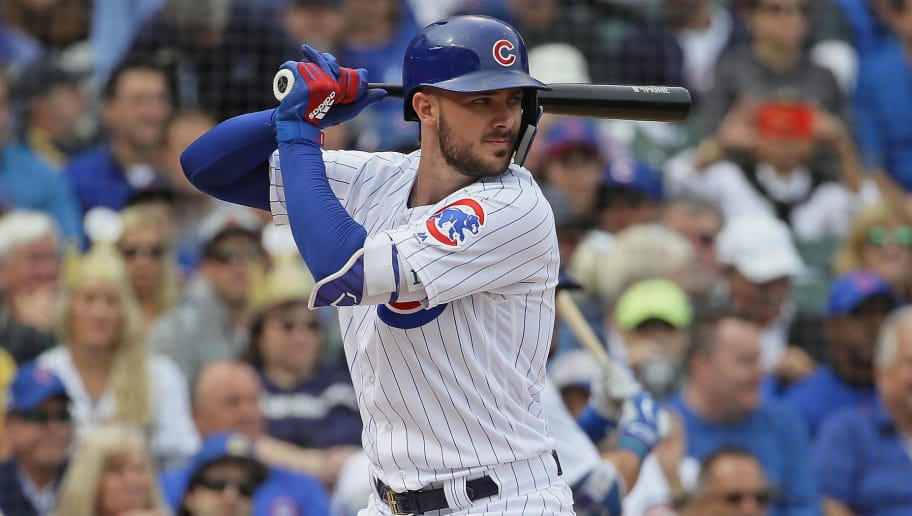 CHICAGO, IL - OCTOBER 01:  Kris Bryant #17 of the Chicago Cubs bats against the Milwaukee Brewers during the National League Tiebreaker Game at Wrigley Field on October 1, 2018 in Chicago, Illinois.  (Photo by Jonathan Daniel/Getty Images)