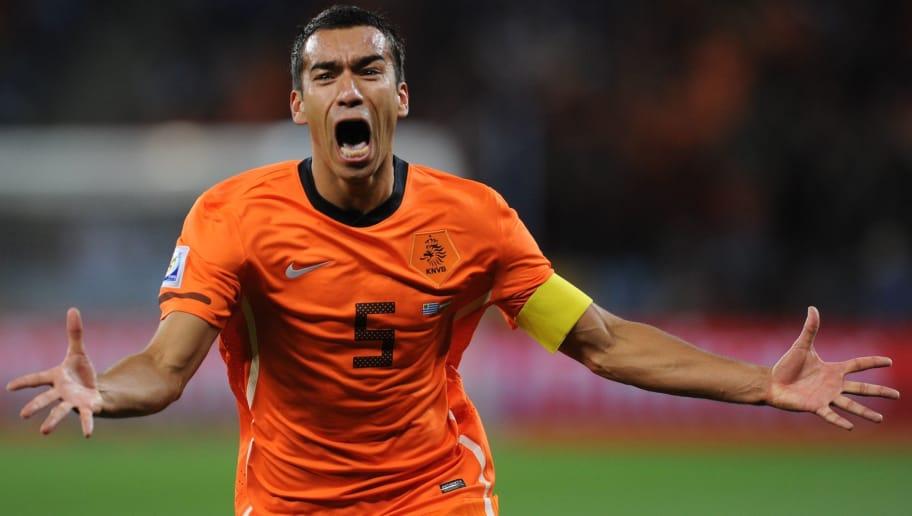 Netherlands' defender Giovanni van Bronc