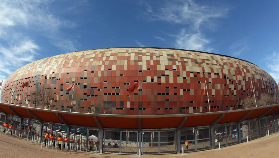 JOHANNESBURG, SOUTH AFRICA - JUNE 14:  A general view of Soccer City before the 2010 FIFA World Cup Group E match between Netherlands and Denmark at Soccer City Stadium on June 14, 2010 in Johannesburg, South Africa.  (Photo by Streeter Lecka/Getty Images)