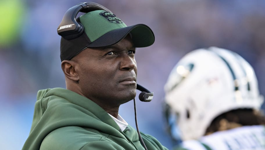 NASHVILLE, TN - DECEMBER 2:  Head Coach Todd Bowles of the New York Jets on the sidelines during a game against the Tennessee Titans at Nissan Stadium on December 2, 2018 in Nashville,Tennessee.  The Titans defeated the Jets 26-22.   (Photo by Wesley Hitt/Getty Images)