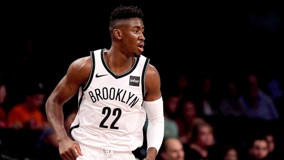 NEW YORK, NY - OCTOBER 03:  Caris LeVert #22 of the Brooklyn Nets in action against the New York Knicks during a preseason game at Barclays Center on October 3, 2018 in New York City.  NOTE TO USER: User expressly acknowledges and agrees that, by downloading and or using this photograph, User is consenting to the terms and conditions of the Getty Images License Agreement. (Photo by Steven Ryan/Getty Images)