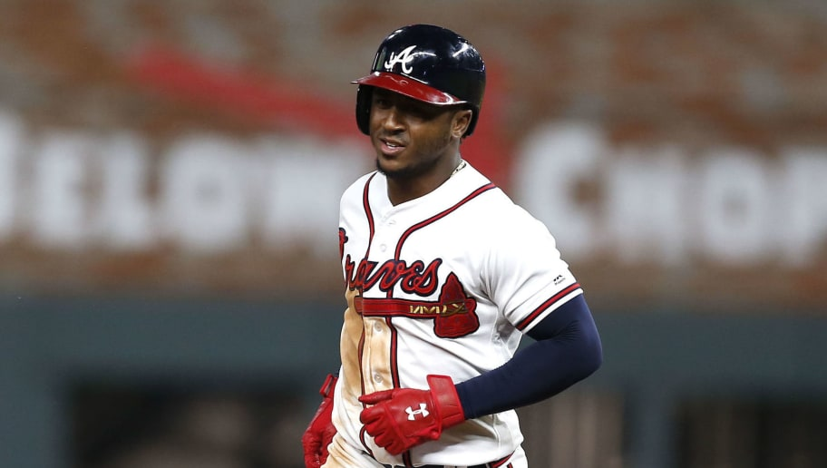 ATLANTA, GA - JUNE 12:  Second baseman Ozzie Albies #1 of the Atlanta Braves runs past second base after hitting a grand slam in the sixth inning during the game against the New York Mets at SunTrust Park on June 12, 2018 in Atlanta, Georgia.  (Photo by Mike Zarrilli/Getty Images)