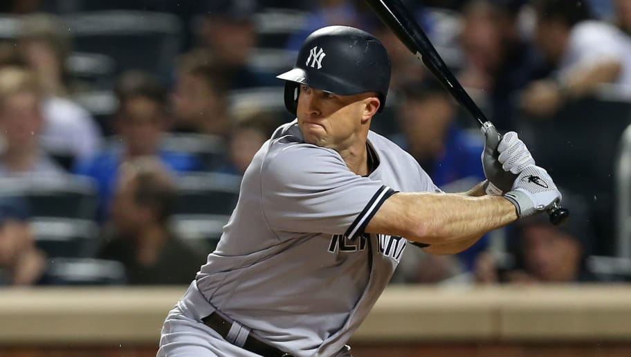 NEW YORK, NY - JUNE 10: Brett Gardner #11 of the New York Yankees in action during a game against the New York Mets at Citi Field on June 10, 2018 in the Flushing neighborhood of the Queens borough of New York City. (Photo by Rich Schultz/Getty Images)