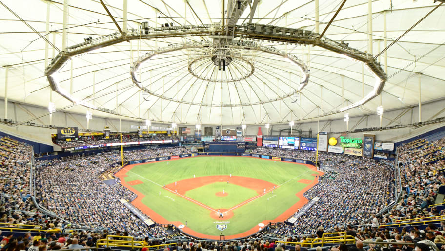 ST PETERSBURG, FL - JUNE 23: General view of Tropicana field during the sixth inning of a baseball game between the Tampa Bay Rays and the New York Yankees on June 23, 2018 at  in St Petersburg, Florida. The Rays won 4-0. (Photo by Julio Aguilar/Getty Images)