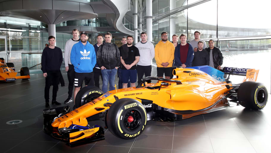 New Zealand All Blacks Visit McLaren Technology Centre
