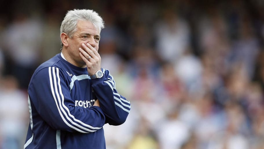 Newcastle's English manager Kevin Keegan gestures during their Premiership League match against West Ham at Upton Park, East London, England, on April 26, 2008. AFP PHOTO/GLYN KIRK Mobile and website use of domestic English football pictures are subject to obtaining a Photographic End User Licence from Football DataCo Ltd Tel : +44 (0) 207 864 9121 or e-mail accreditations@football-dataco.com - applies to Premier and Football League matches (Photo credit should read GLYN KIRK/AFP/Getty Images)