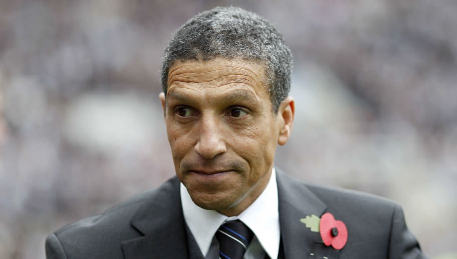 Newcastle United's manager, Chris Hughto