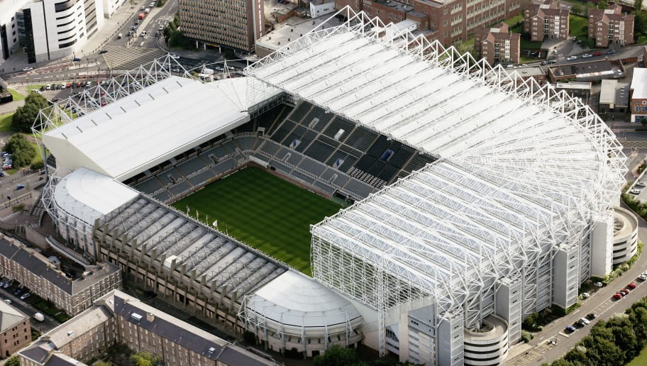 NEWCASTLE, ENGLAND - SEPTEMBER 2006: The home of Newcastle United Football Club - St James Park  in this aerial photo taken on 9th September, 2006.  (Photo by David Goddard/Getty Images)