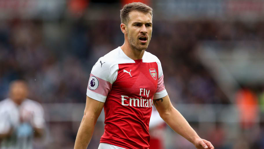 NEWCASTLE UPON TYNE, ENGLAND - SEPTEMBER 15:  Aaron Ramsey of Arsenal during the Premier League match between Newcastle United and Arsenal FC at St. James Park on September 15, 2018 in Newcastle upon Tyne, United Kingdom. (Photo by Robbie Jay Barratt - AMA/Getty Images)