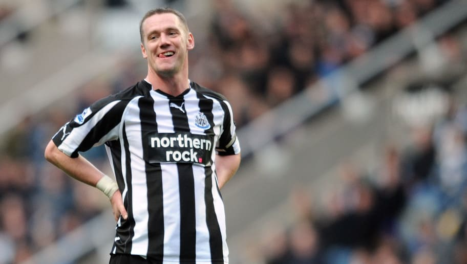 NEWCASTLE UPON TYNE, ENGLAND - FEBRUARY 26:  Kevin Nolan of Newcastle United reacts during the Barclays Premier League match between Newcastle United and Bolton Wanderers at St James' Park on February 26, 2011 in Newcastle upon Tyne, England.  (Photo by Chris Brunskill/Getty Images)