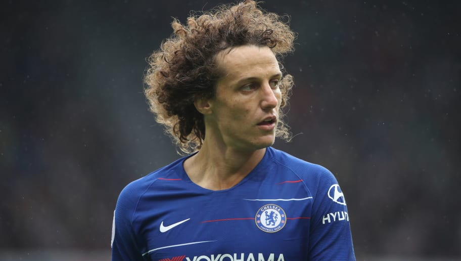 NEWCASTLE UPON TYNE, ENGLAND - AUGUST 26: David Luiz of Chelsea during the Premier League match between Newcastle United and Chelsea FC at St. James Park on August 26, 2018 in Newcastle upon Tyne, United Kingdom. (Photo by Matthew Ashton - AMA/Getty Images)