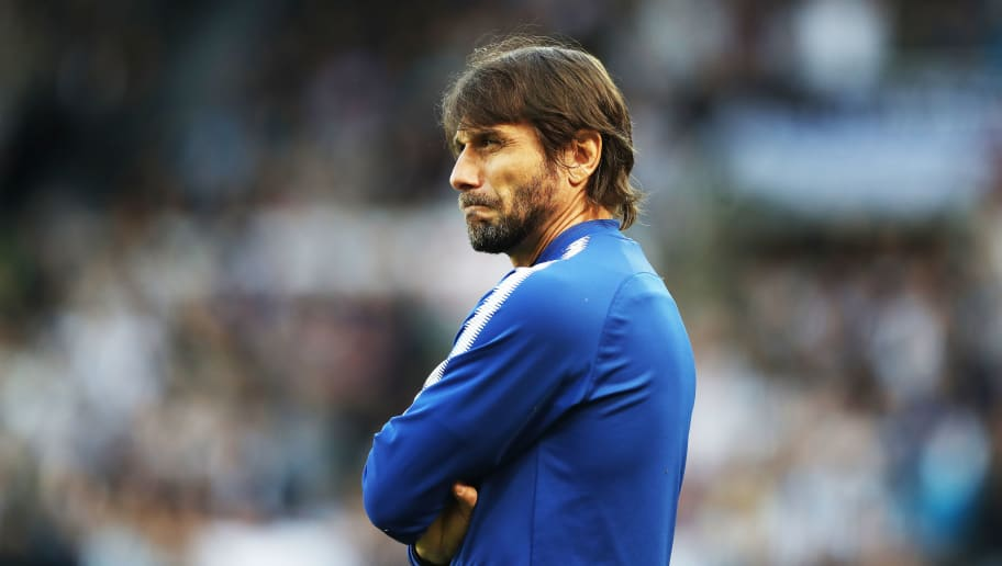 NEWCASTLE UPON TYNE, ENGLAND - MAY 13:  Chelsea manager Antonio Conte is seen during the Premier League match between Newcastle United and Chelsea at St. James Park on May 13, 2018 in Newcastle upon Tyne, England. (Photo by Ian MacNicol/Getty Images)