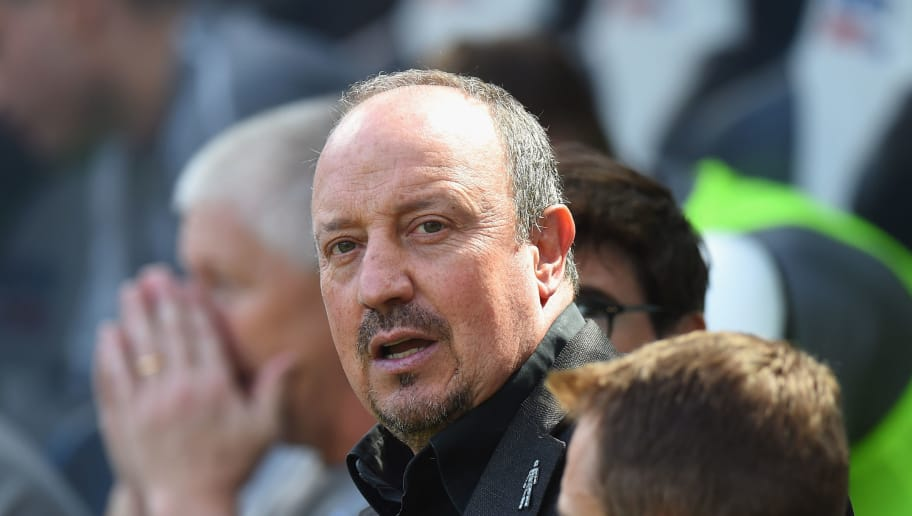 NEWCASTLE UPON TYNE, ENGLAND - AUGUST 04:  Rafa Benitez, Manager of Newcastle United  during the Pre-Season Friendly match between Newcastle United and FC Augsburg at St James' Park on August 4, 2018 in Newcastle upon Tyne, England.  (Photo by Tony Marshall/Getty Images)