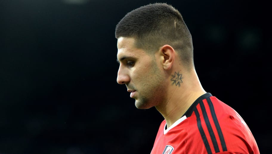NEWCASTLE UPON TYNE, ENGLAND - DECEMBER 22:  Aleksandar Mitrovic of Fulham looks on during the Premier League match between Newcastle United and Fulham FC at St. James Park on December 22, 2018 in Newcastle upon Tyne, United Kingdom.  (Photo by Mark Runnacles/Getty Images)