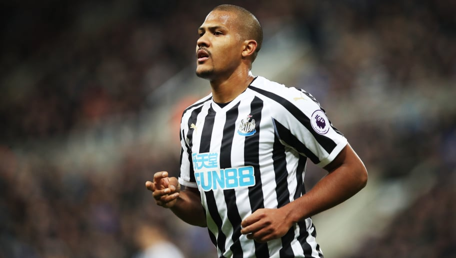 NEWCASTLE UPON TYNE, ENGLAND - DECEMBER 22: Jose Salomon Rondon of Newcastle United is seen during the Premier League match between Newcastle United and Fulham FC at St. James Park on December 22, 2018 in Newcastle upon Tyne, United Kingdom. (Photo by Ian MacNicol/Getty Images)