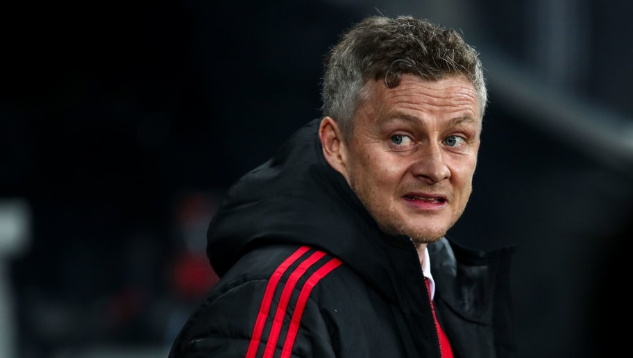 NEWCASTLE UPON TYNE, ENGLAND - JANUARY 02:  Ole Gunnar Solskjaer the interim head coach / manager of Manchester United during the Premier League match between Newcastle United and Manchester United at St. James Park on January 2, 2019 in Newcastle upon Tyne, United Kingdom. (Photo by Robbie Jay Barratt - AMA/Getty Images)