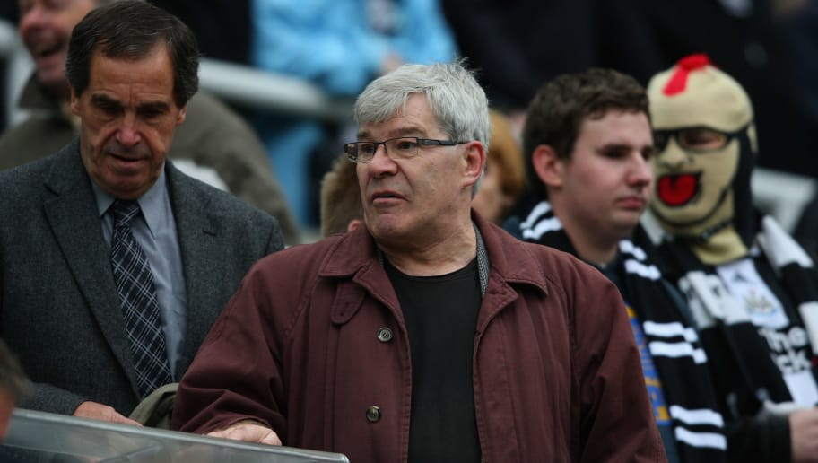 NEWCASTLE UPON TYNE, ENGLAND - OCTOBER 31:  Ex-Newcastle United legends Bobby Moncour (L) and Malcolm Macdonald look on from the press box before the Barclays Premier League match between Newcastle United and Sunderland at St James' Park on October 31, 2010 in Newcastle upon Tyne, England.  (Photo by Stu Forster/Getty Images)