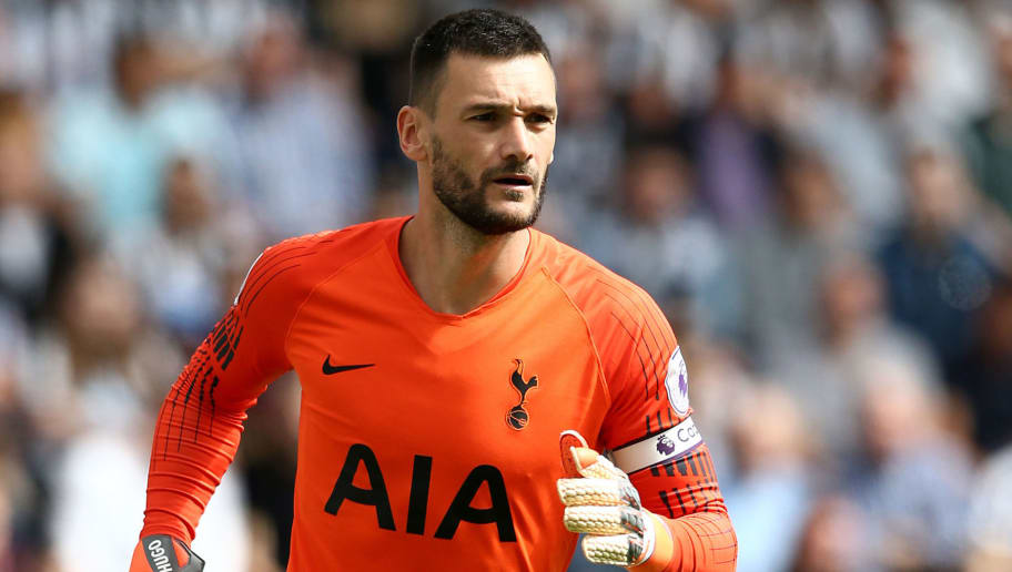 NEWCASTLE UPON TYNE, ENGLAND - AUGUST 11: Hugo Lloris of Tottenham Hotspur during the Premier League match between Newcastle United and Tottenham Hotspur at St. James Park on August 11, 2018 in Newcastle upon Tyne, United Kingdom. (Photo by Jan Kruger/Getty Images)