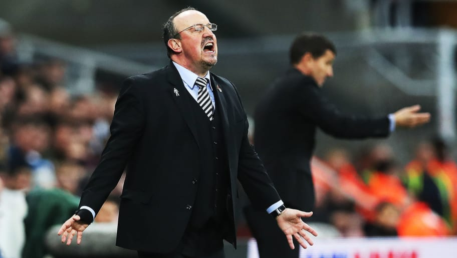 NEWCASTLE UPON TYNE, ENGLAND - NOVEMBER 03: Newcastle United manager Rafa Benitez reacts during the Premier League match between Newcastle United and Watford FC at St. James Park on November 3, 2018 in Newcastle upon Tyne, United Kingdom. (Photo by Ian MacNicol/Getty Images)
