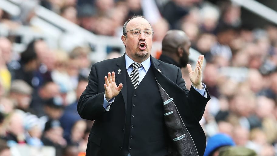 NEWCASTLE UPON TYNE, ENGLAND - APRIL 28: Newcastle United manager Rafa Benitez is seen during the Premier League match between Newcastle United and West Bromwich Albion at St. James Park on April 28, 2018 in Newcastle upon Tyne, England. (Photo by Ian MacNicol/Getty Images)