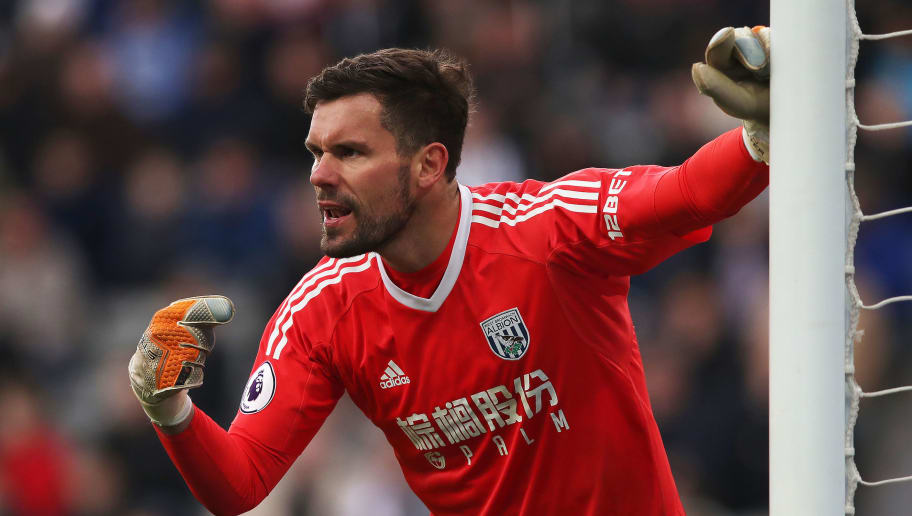 NEWCASTLE UPON TYNE, ENGLAND - APRIL 28: Ben Foster of West Bromwich Albion is seen during the Premier League match between Newcastle United and West Bromwich Albion at St. James Park on April 28, 2018 in Newcastle upon Tyne, England. (Photo by Ian MacNicol/Getty Images)
