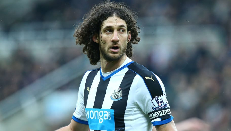 NEWCASTLE UPON TYNE, ENGLAND - FEBRUARY 6 :    Fabricio Coloccini of Newcastle United in action during the Barclays Premier League match between Newcastle United FC and West Bromwich Albion FC at St James' Park on February 6, 2016 in Newcastle Upon Tyne, England. (Photo by Mark Runnacles/Getty Images)