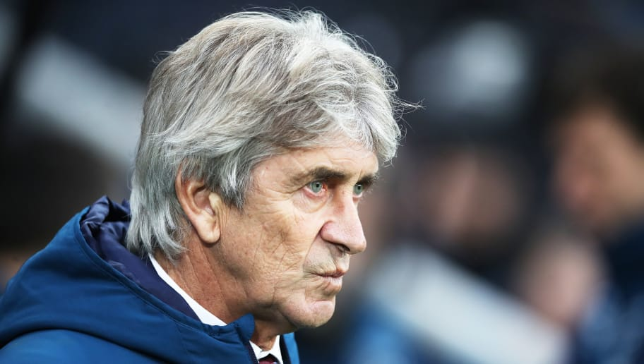 NEWCASTLE UPON TYNE, ENGLAND - DECEMBER 01: Manuel Pellegrini manager of West Ham United  looks on during the Premier League match between Newcastle United and West Ham United at St. James Park on December 1, 2018 in Newcastle upon Tyne, United Kingdom. (Photo by Ian MacNicol/Getty Images)
