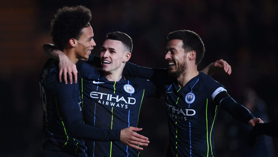 Leroy Sane,Phil Foden,David Silva